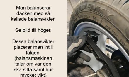 Varför måste man balansera däck?