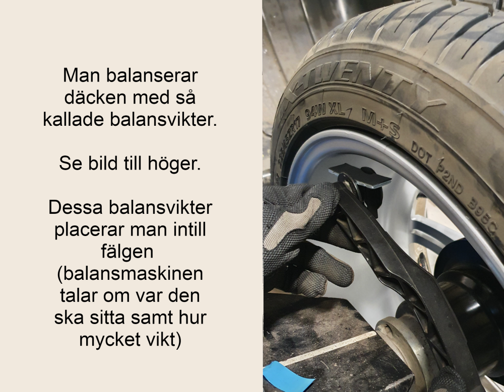 balansera däck