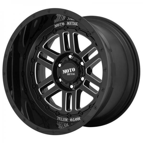 10 X 20 ET -18 71.5 MOTO METAL GLOSS BLACK MILLED