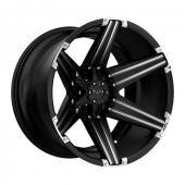 SATIN BLACK W  MILLED SPOKES AND BRUSHED INSER Status